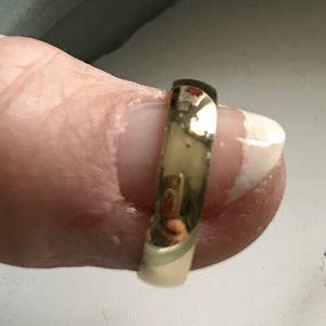 Estate 10K Yellow Gold Wedding Ring Size 6